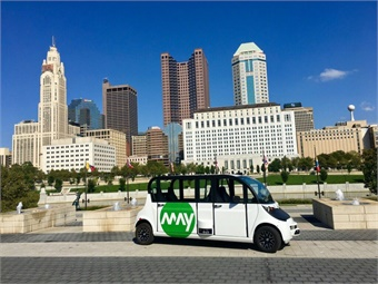 Columbus, Ohio is testing an autonomous shuttle from May Mobility. Photo: DriveOhio