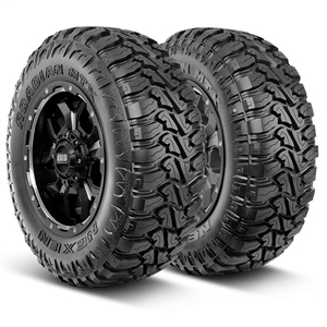 The Roadian MTX tire's dual sidewalls, called Beast (left) and Machine, give customers an option to choose the look that best represents their lifestyle and vehicle.