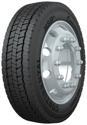 Continental says the new 19.5-inch Conti HSR+ and Conti HDR+ tires deliver a 15% improvement in cut-and-chip performance and 12% expected increase in mileage versus the predecessor products.