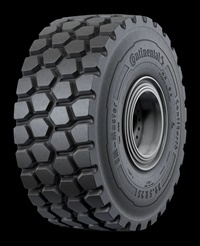 The ContiEarth EM-MasterE3/L3 features a normal tread depth and wide spacing between the blocks. It is one of 7(!) new tires introduced by Continental at MINExpo 2016.