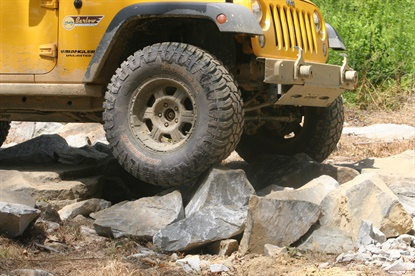 Continental says the X3 in the Grabber X3 stands for extreme dirt, mud, and rock.