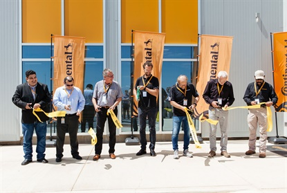 Continental invited local officials to celebrate the ribbon cutting of its new indoor tire testing site at Uvalde.