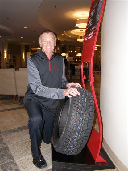 Continental's Joe Maher says the new Altimax Arctic12 features strategically angled tread blocks with serrated winter sipes for excellent traction and braking capability in all directions on snow and ice.