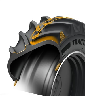 The TractorMaster tire from Continental features new lug technology, and will be available in two sizes beginning in September 2018.
