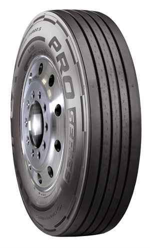 The Cooper Pro Series LHS tire features four-belt steel design construction.