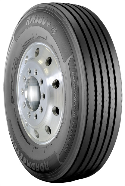 The Roadmaster 180+(EM) is available in load range H for tire sizes 11R22.5 and 11R24.5 to accomodate heavier steer axles.