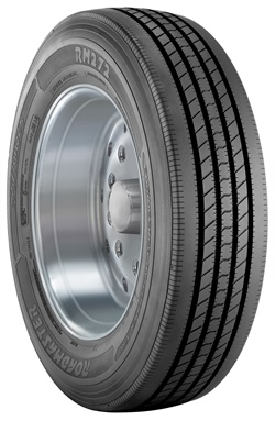The RM272's tread compound has been formulated to provide balance between resistance to side forces and maximum wear.