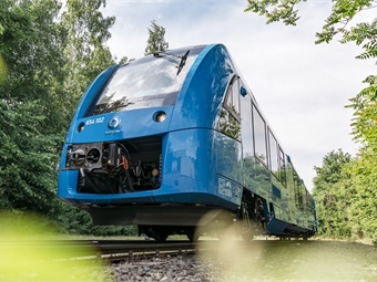 Coradia iLint is the world's first passenger train powered by a hydrogen fuel cell, which produces electrical power for traction.