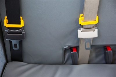 NASDPTS's new position paper details the reasons for the association's support for three-point seat belts, common objections raised to adding them to school buses, and offers guidance on making the decision to require them in new buses. File photo courtesy Des Moines (Iowa) Public Schools