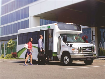 Micro Bird's electric commercial buses can travel up to 100 miles on a single charge.Photos courtesy Micro Bird