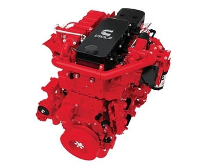 Cummins' Connected Diagnostics is now available to customers using Zonar's V3 telematics control unit. It is designed to prioritize engine fault information and offer actionable recommendations. Shown here is the Cummins B6.7 engine.