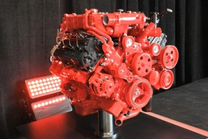 A display model of the ISV5.0 on stage at the Cummins press event in Indiana.