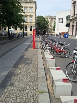 Cycle Hire service in Berlin.