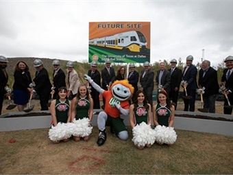 DART celebrated the groundbreaking of its new Silver Line rail rail service in five cities with elected officials from Addison, Plano, Dallas, Carrollton, and Richardson, ending at DFW International Airport. DART
