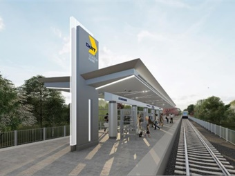 Rendering of a station for DART's Silver Line. DART