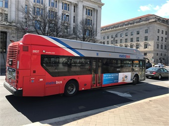 A Washington Metropolitan Area Transit Authority of Washington, D.C. bus. Photo: METRO/J. Starcic