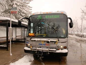 Metro bus after snowstorm in 2010. Photo: WMATA/Larry Levine