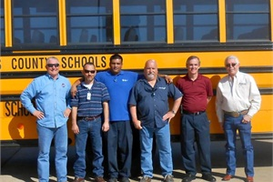 Dallas County Schools' technicians recently underwent training provided through a collaboration between Hydrotex, Stewart & Stevenson and Alternator Service.