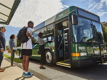 As part of the new Veterans-in-Crisis Transportation pilot program, the DCTA is providing Lyft gift cards, regional day passes for use on DCTA, DART, and Trinity Metro bus and rail, and Irving Holdings debit cards. Photo: DCTA