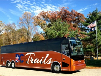 Since their inception, DC Trails has grown to a fleet of over 65 motorcoaches that provide charter services, Hop-on-Hop-Off Washington DC tours, and daily route services from the Washington D.C. region to New York City. DC Trails/IMG