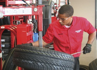 Trevon Berry works part-time at the first Discount Tire store in northeast Ohio.