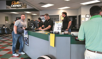 """Since its beginning Plaza Tire has placed a big emphasis on stocking tires — rather than depending on daily deliveries — to make sales in its stores. In 2017 the company rolled out a new initiative: """"four tires in one hour, guaranteed."""" If a store doesn't meet the one-hour promise the customer earns a $25 gift certificate."""