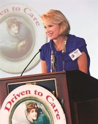 Diane Halle founded Driven to Care in 2005. The organization is funded through regional tire sales.