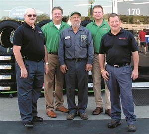 Scott and Mark are proud of their longtime employees. Chuck Schuessler, left, and Andy Klipfel, center, started work within a week of each other. Kevin Seabaugh, right, leads retail operations and has known Mark since kindergarten.