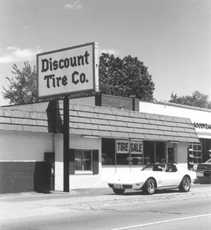 The first Discount Tire store opened in Ann Arbor, Mich., in 1960. Halle's goal was to sell seven or eight tires a day, plus tubes, to cover his expenses and care for his family.