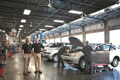 Mark and Scott Rhodes are MTD's 25th anniversary Tire Dealer of the Year Award winners.