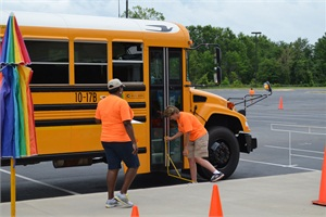 More than 60 school bus drivers from around Georgia recently competed in a safety competition hosted by Georgia's Pupil Transportation Safety Competition Foundation. Blue Bird Propane-Powered Vision school buses were provided by Hall County Schools and Appling County Schools.