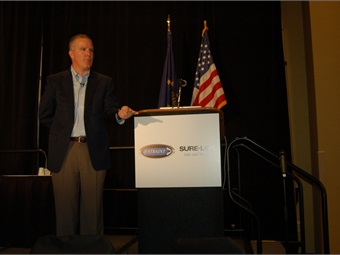 TransPro CEO Mark Aesch gave the keynote speech.