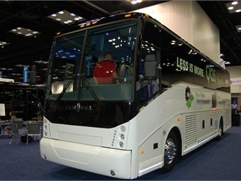 ABC Companies' new Van Hool 35-foot CX35 vehicle made its debut.