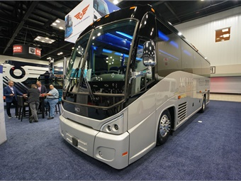 MCI showcased the J3500 for the first time at a major expo during BusCon 2018.