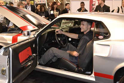 Vincent Cerra will go from driving a hybrid vehicle to an iconic American muscle car, thanks to a promotion from Raybestos.