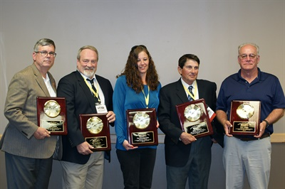 Six school bus drivers were selected to receive the 2019 Transportation Specialist Awards at the Minnesota School Bus Operators Association's annual summer conference. (Not pictured: Libby Smith.)