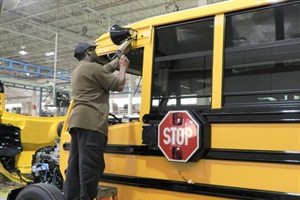 Thomas Built Buses is adding 50 new line positions and increasing production levels in response to large orders from the state of North Carolina and other customers.