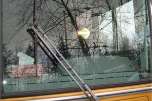 The Steffi Crossing Enhancer is a reflective arrow with elastic bands that drivers wear on the back of their hand. The arrow is designed to provide a clear visual through glare on the windshield. Inventor Victoria DeCarlo said it has caught on at operations in many states since its launch last year.