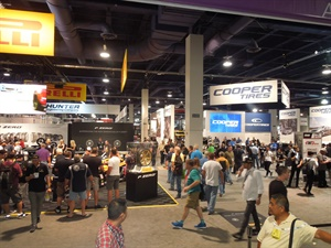 Attendance at the Global Tire Expo was heavy early, but steady all four days.