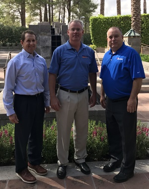 New Network chairman Adam Honegger (center) is pictured with David Segal (left), who just completed his term as chairman, and David Prater, president of the Network.