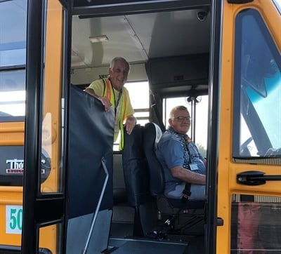 School bus drivers and monitors from fourKentucky school districts recently took part in a behavior management training.Shown here are transportation staff members from Daviess County Public Schools. Photo courtesy Downey Ward