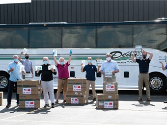 Dean Trailways will continue to donate transportation, distribution, and storage free of charge to organizations that are donating products or services for the foreseeable future.