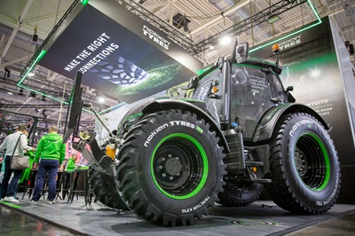 The new Nokian Ground King tire features Nokian's Hybrilug Technology, which provides enhanced grip.