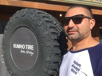 Sako Batanian, who owns El Monte, Calif.-based King's Tire & Wheel, says his customers will like the Road Venture MT71's aggressive sidewall appearance.