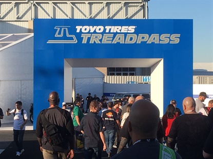 Toyo heavily promoted its Treadpass area during the 2019 SEMA Show.