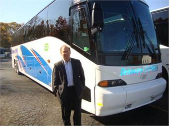 President Gerry Frenze with one of his new J4500s.