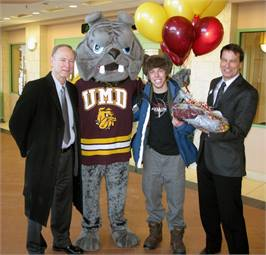 The DTA's U-Pass program has been so succesful at the University of Minnesota - Duluth that it celebrated its five millionth customer in 2012.