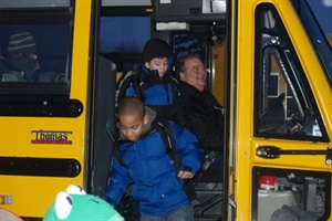 School bus driver Dennis Stricker asks his passengers a trivia question each morning, and they search for the answer during the day and report back on the ride home.