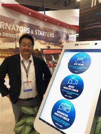 "The new Vehicle MRI app ""allows a technician to plug into a vehicle and see what the vehicle is doing from the inside out,"" says Denso's Frank Choi."