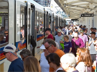 Powering trains with solar panels and giving free transit passes to kids were some ways to improve transportation and mobility put together by Curbed. Photo: Denver RTD